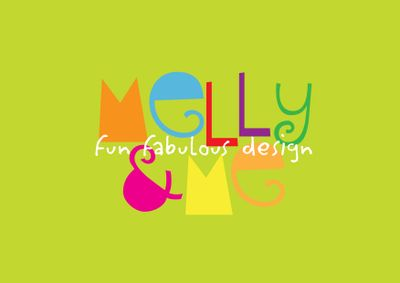 Melly&me logo - green background